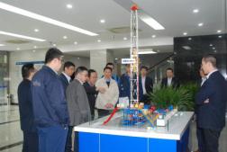 北京石油机械有限公司客户来我公司技术交流