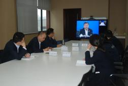 公司参加宝石机械公司二季度生产经营工作分析视频会